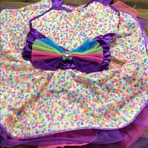 Girls Dance Leotard Tutu, size 5T